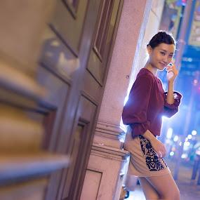 Hong Kong Night by Billy C S Wong - People Fashion ( hong kong, street, night, road, beauty, spot,  )