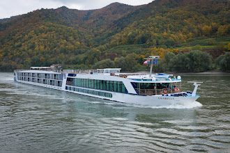 Photo: Not our ship, but a typical river cruiser. There are over 300 cruise ships on the rivers of Europe.