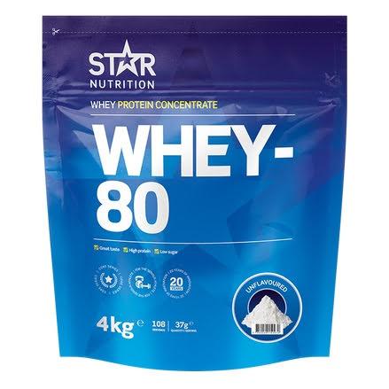 Star Nutrition Whey 80 4kg - Unflavoured