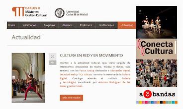 Photo: ¡Feliz Día Internacional de la Danza! Esta semana en #Actualidad tenemos propuestas de fotografía, música, arte, teatro. Esta semana, con los Focus Group dedicados a #Educacióndigital (ayer), #SociedadWeb (hoy) y #TICscultura (mañana) termina la semana de la #CulturaDigital organizada por Antonio Rodríguez de las Heras y Jaime Cubas. http://www.mastergestioncultural.eu/actualidad_ficha.php?id=5659&pag=1&cbus=
