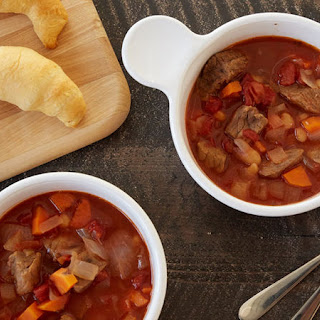 Tomato Beef and Bean Soup.