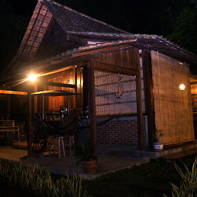 Blambangan House @ night by Elha Susanto - Buildings & Architecture Homes