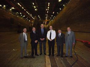 Photo: HMS Bulwark dock with COMATG