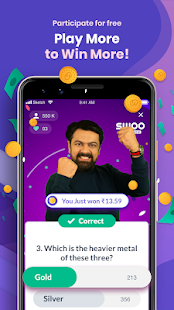 SWOO - Play Games,Contests & Videos to win money Screenshot