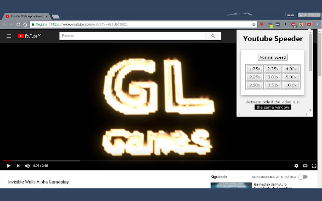 YouTube Speeder