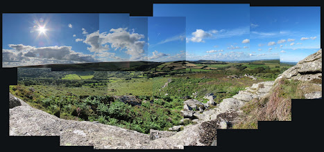 Photo: This is one of my favourite places on Dartmoor and is hidden behind the tor - Honeybag Tor - but has spectacular views across Hamel Down and towards Manaton.
