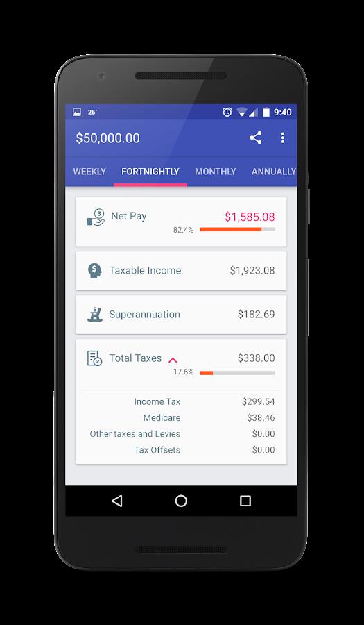 how to calculate take home weekly salary australia