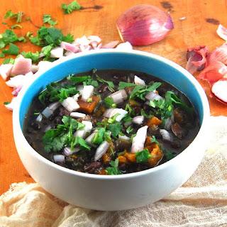 Fat-Free Cuban Black Beans in a Crockpot.