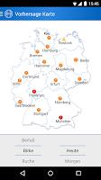 Screenshot of Pollenflug-Vorhersage