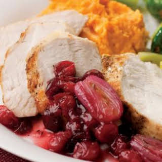 Turkey Tenderloin with Cranberry-Shallot Sauce.