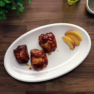 Sweet and Spicy Barbeque Baked Chicken Thighs