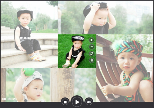 Photo collage made with photo slideshow maker