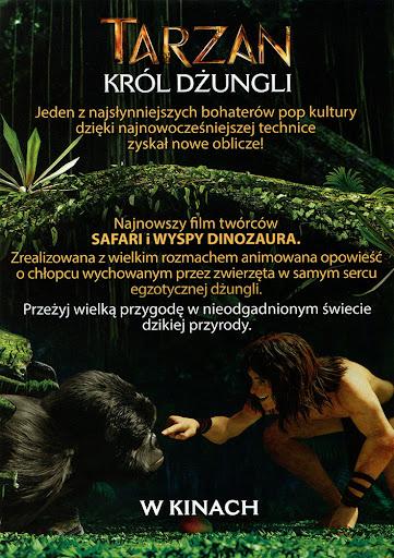 Tył ulotki filmu 'Tarzan. Król Dżungli'