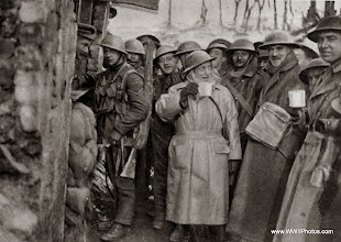 Photo: British Troops At Ypres Drinking Coffee At A YMCA Stall