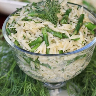 Orzo Salad with Asparagus & Creamy Dill Dressing