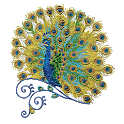 Peacock Color by Number Pixel Art Sandbox Pages icon
