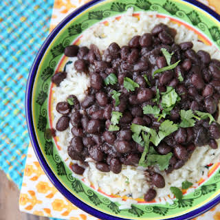 Brazilan Style Black Beans in Pressure Cooker.