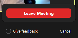 leave meeting button