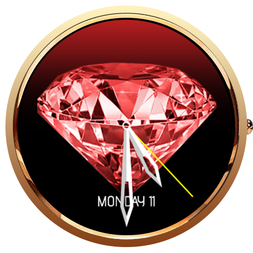 Diamond Animated 3D WatchFace- screenshot