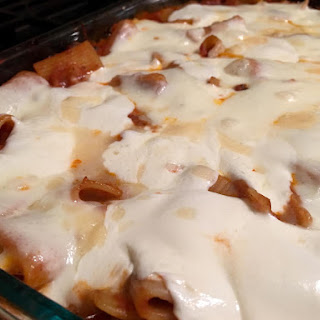 Homemade Baked Ziti with Red Sauce