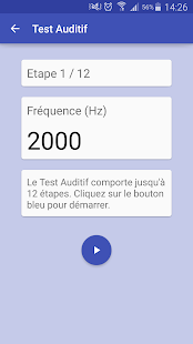 Test Auditif Capture d'écran