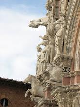 Photo: Shewolf gargoyles, symbols of Siena