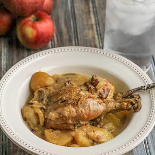 Chicken Pot Roast with Apples and Cider