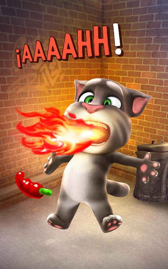 Talking Tom: captura de pantalla