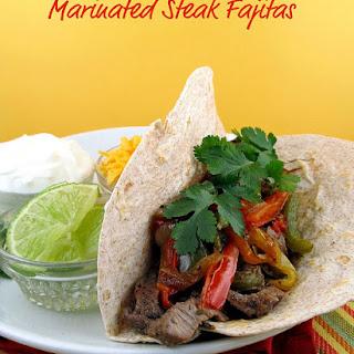 Marinated Steak Fajitas.