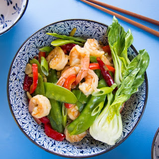 Ginger Shrimp & Snow Peas.