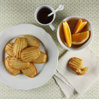 Candied Orange and Maple Madeleines.