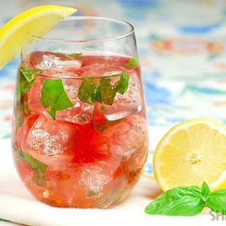 Basil Lemonade Rose Wine Cocktail