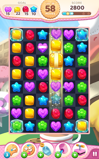 Code Triche Cookie Rush Match 3 APK MOD screenshots 2