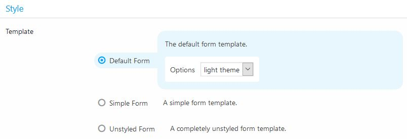 form templates in strong testimonials plugin