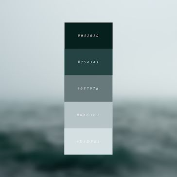 Moody Color Palette - Brand Board Template