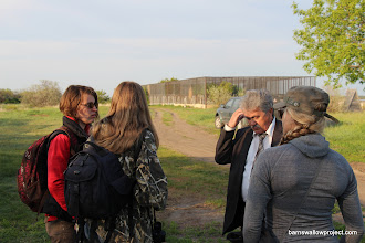 Photo: Our host at the research station, Vladimir, shows us the breeding facility for reintroduction of some threatened Russian species