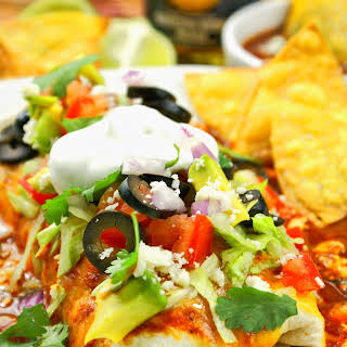 Slow Cooker Smothered Chicken Burritos.