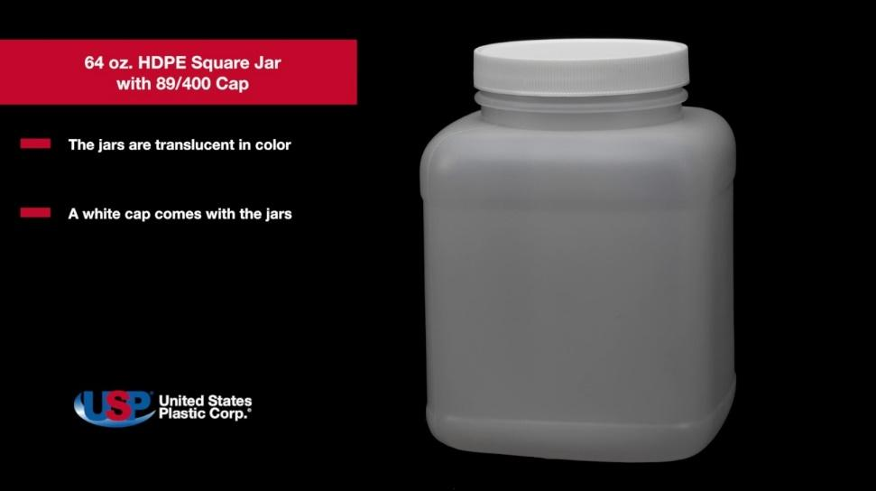 Image result for square hdpe jars