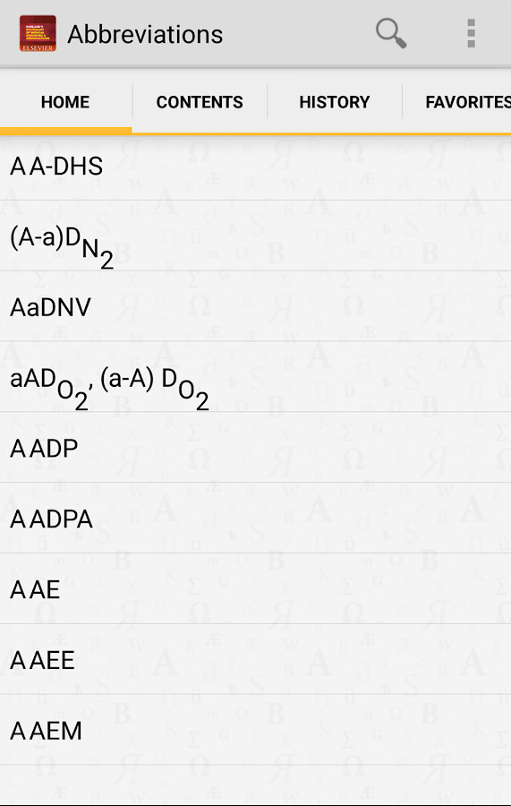 Medical Acronyms Abbreviations- screenshot