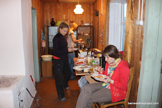 Photo: Makin' some pasta for dinner at the Karasuk research station