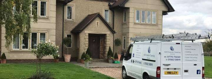 A&R Exterior Cleaning Service outside of a house in Bedfordshire
