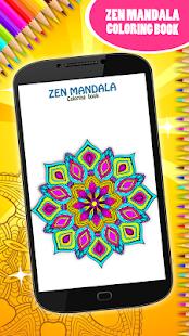 Zen mandala omalovánky k vytisknutí - náhled