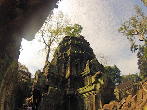 Photo: Temple Ta Phrom is very popular for two reasons: firstly, a part of the movie Tomb Raider was shot here…