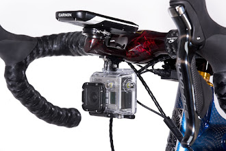 Photo: Calfee, Rootbeer Translucent, Manta Pro, BarStem_integrated Garmin and GoPro mounts