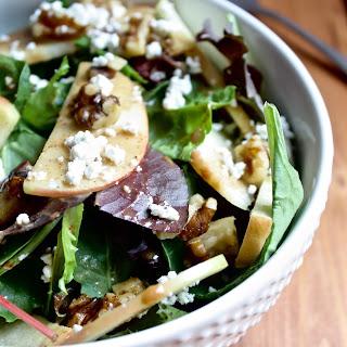 Apple Walnut Salad with Balsamic Almond Dressing