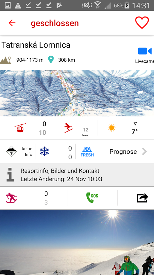 iSKI Slovakia - Ski, snow, resort info, tracker- screenshot