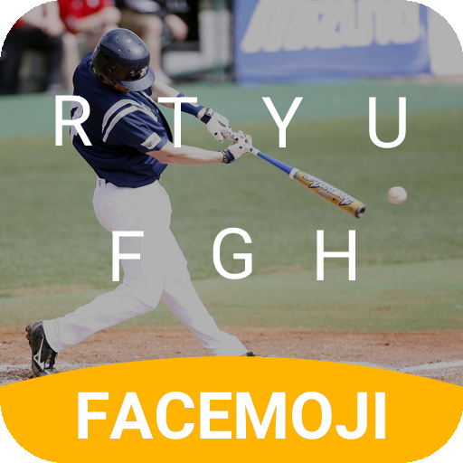 Baseball Hit Emoji Keyboard Theme for MLB all star