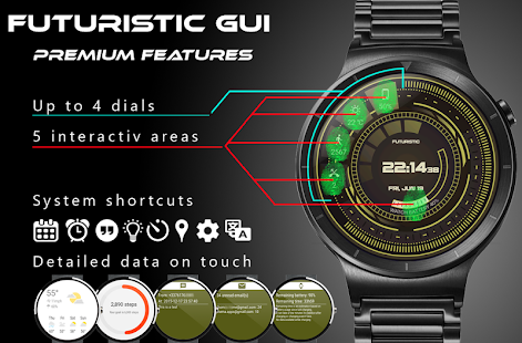 Futuristic GUI Watch Face- screenshot thumbnail