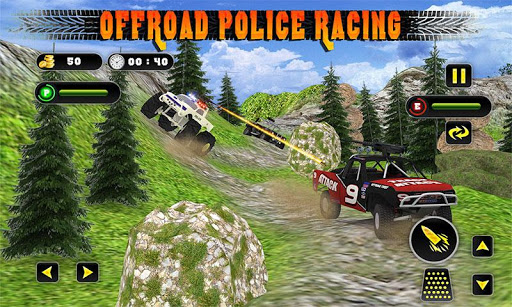 POLICE OFF ROAD CHASEのTRUCK