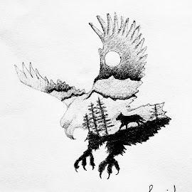 Soar  by Saaid Shah - Drawing All Drawing ( #art, #drawing, #sketch, #illustration, #potrait, #blackandwhite, #pencils )